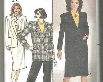 Evan Picone Butterick 3477 80s vintage sewing pattern size 8 uncut