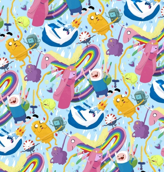 Adventure Time Pattern Poster
