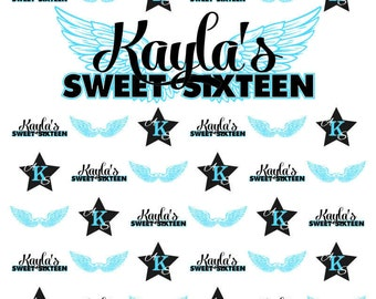 Sweet 16 Step and Repeat Backdrop Fast Turnaround High Quality Printing