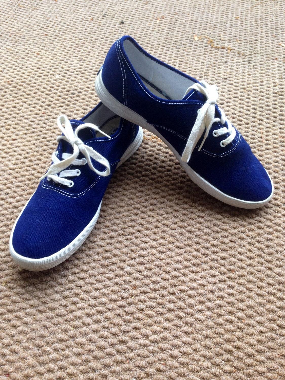 Women Canvas Royal Blue Tennis Shoe