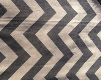 Chevron Throw Pillow, 18x18 Couch Pillow, grey and Taupe Pillow.