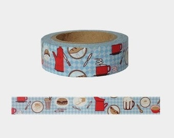 Kitchen Washi Tape -- Japanese Washi Tape -Deco tape-- 15mm x10M