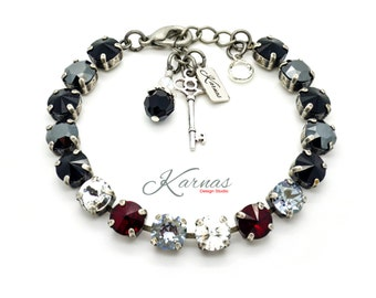 BIG NIGHT OUT 8mm Chaton Crystal Bracelet Made With SwarovskI Elements *Pick Your Metal *Karnas Design Studio *Free Shipping*