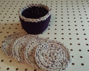 Face Scrubbers (4)/Basket/or Coasters