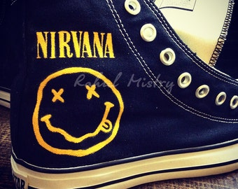 Nirvana handpainted converse shoes
