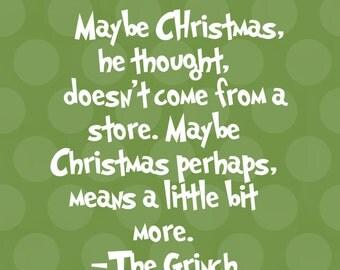 Grinch Christmas printable