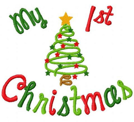 Christmas Embroidery Design My 1st Christmas My First