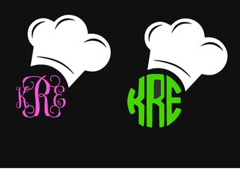 Monorgramed Chef Hat Decal