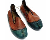 Traditional Ottoman Shoes , Natural Leather, Handmade
