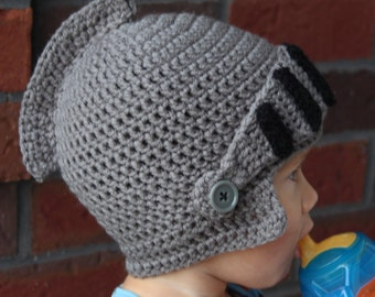 Knight Hat - Crochet - Knight Costume