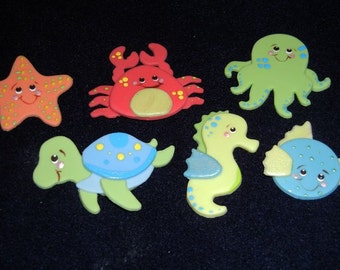 Under The Sea Party Decorations Boy Under the Sea Baby Shower Sea Creatures Favors Under The Sea Themed Party Sea Creatures Cake Toppers