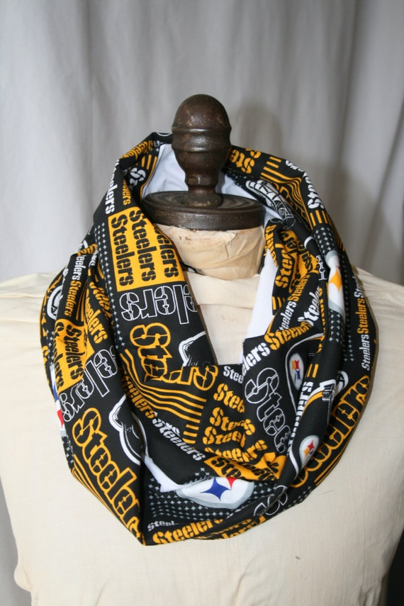 items similar to nfl pittsburgh steelers infinity scarf on