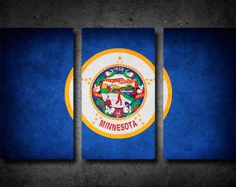 Minnesota Flag Triptych