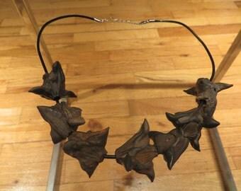 Black Sea Devil Pods Necklace