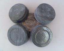 Vintage Zinc Metal Jar Lids