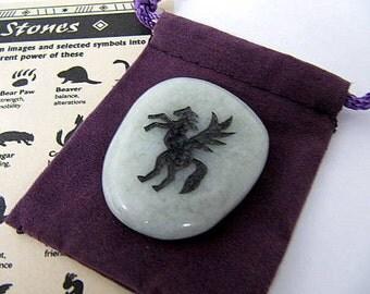 Gemstones, Animals, Pegasus, Totem Spirit Healing, Stones with Animals and Symbols, Medicine Bag, Spirit Totem, Reiki, Chakra,Feng Shui