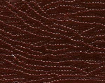 Seed Beads, 8/0, 6 String Hank, Mini Hanks, 20 Inch Loops, Garnet, Value, Glass Beads, 38 Grams, #90120
