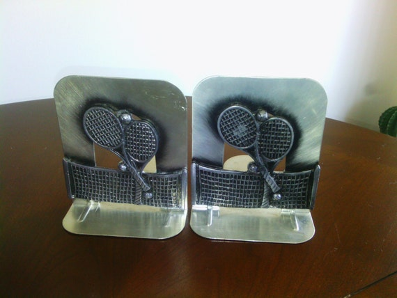 Tennis bookends metal vintage sturdy by timetokens on etsy - Sturdy bookends ...