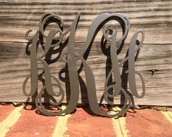 """5-1/2"""" Metal Monogram Wall/Door Hanger"""