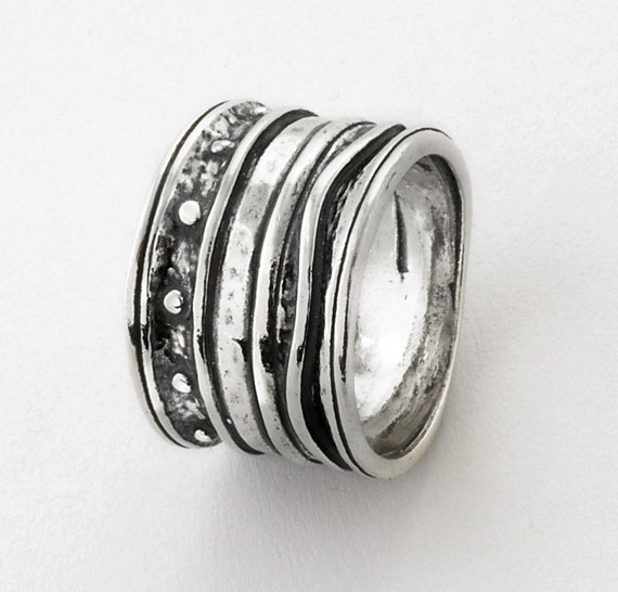 Sterling Silver Designers Signature Band Ring