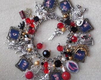 True Blood inspired Charm Bracelet w/ 29 charms