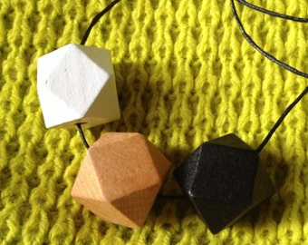 Staple Raw 20mm Geometric Beaded Necklace