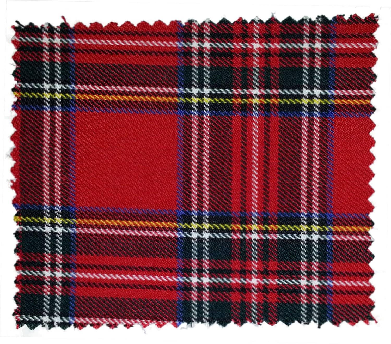 Red Royal Stewart Small Tartan Fabric By Ainsberryfabric
