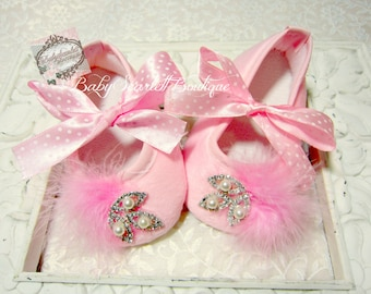 Pink Baby Girl Shoes,Soft Sole Shoes,Crib Shoes,Infant Shoes