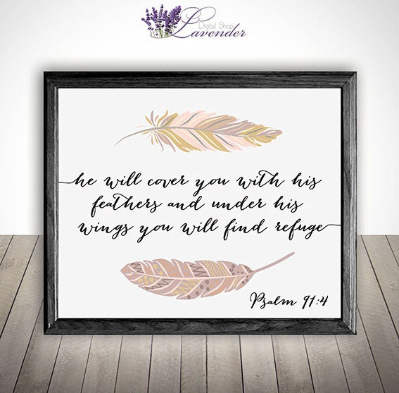Printable Home Decor Bible Verse Wall Art Printable He Will