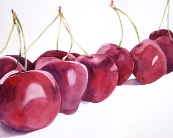 Cherries Watercolor