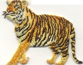Beautiful, TIGER, PATCH, Iron On Patch, or sew on Looks Real by Cedar Creek Patch Shop