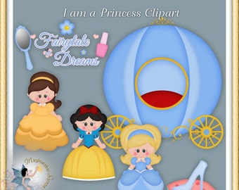Princess Fairytale Clipart, I am a Princess