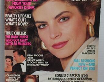 August 1988 REDBOOK Magazine - articles on Kirstie Alley, Demi Moore and Bruce Willis, and Princess Fergie, paper ephemera, vintage magazine