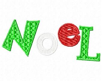 Machine Embroidery Christmas Noel