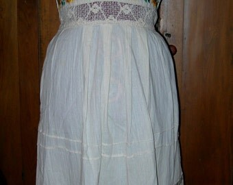 1970's Halter Sundress Needlework and Embroidery Peekaboo waist Exc. cond. M-L