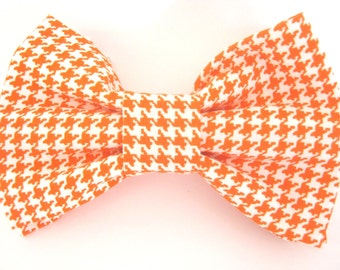 Orange Dog Bow Tie Double - Stacked Attaches to the collar with two velcro straps