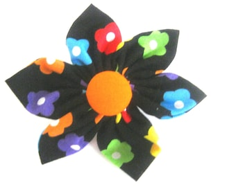 Dog Collar Flower.Colorfuf Dog Flower.Small,Medium,Large.Attaches to the collar with velcro.