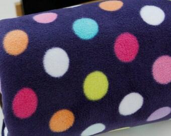 Fleece Fabric Polka Dot By The Yard