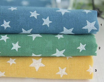 Gauze Fabric Star in 3 Colors By The Yard