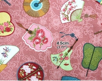 Cotton Fabric Fan Pink By The Yard