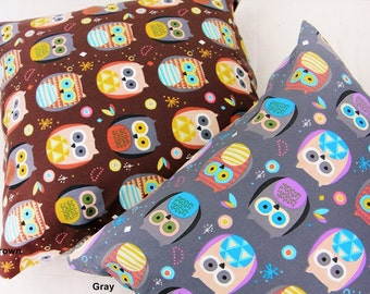 Oxford Cotton Fabric Owl in 2 Colors By The Yard