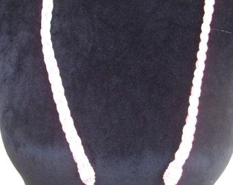 crochet braid necklace Pearl cotton ball