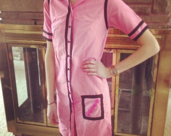 Vintage Vicky Vaughn Pink Diner-Style Dress
