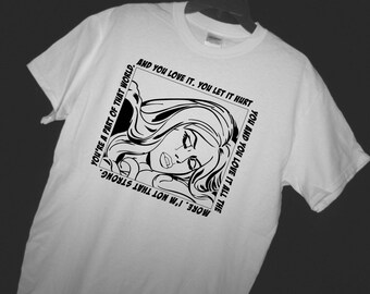 COMIC BOOK Pop Art T Shirt - Elektra Quote