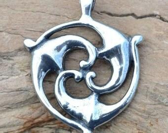 Sterling CELTIC TRISKELE PENDANT from Galia Iron Age Triskelion Triskel Silver Celts Gaul