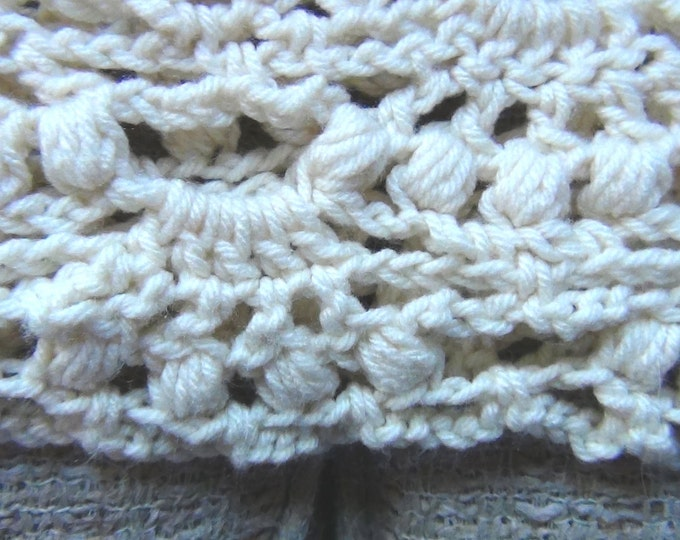 Hand Crocheted Shawl - Ivory White Shawl - Elegant Crochet Wrap - Wedding Shawl - Soft Acrylic Handmade Bride Gift