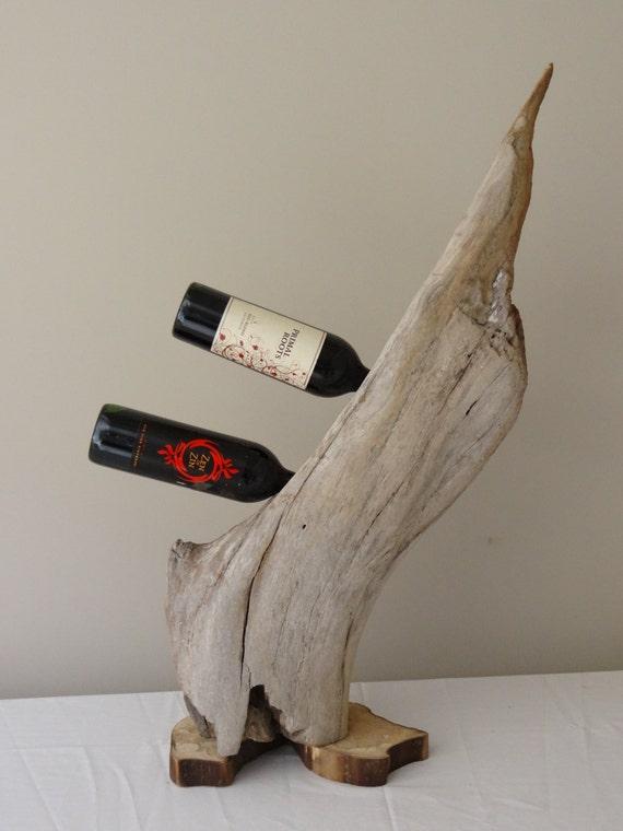 Items similar to Driftwood Wine Rack on Etsy