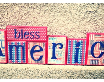 Patriotic blocks - GOD bless America