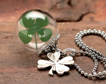 Genuine Clover Stainless Steel Necklace K107