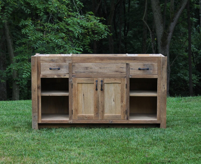 Rustic Vanity 60 Reclaimed Barn Wood W Paneled Doors